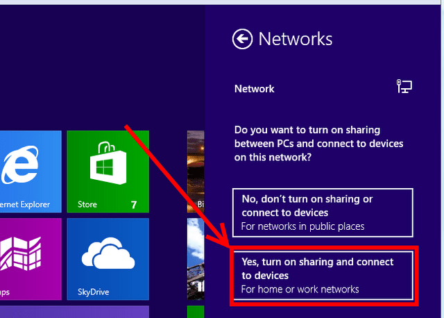 enable sharing in windows 8 image
