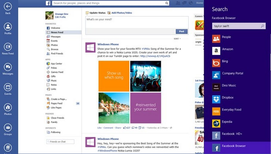 FB Browser for Windows 8