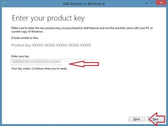 insert windows 8 product key