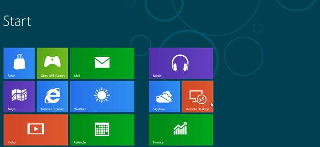 windows 8 start screen apps lists