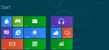 windows 8 start screen apps lists