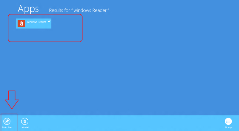 windows reader pinning