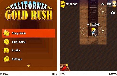 california goldrush game for Asha phones