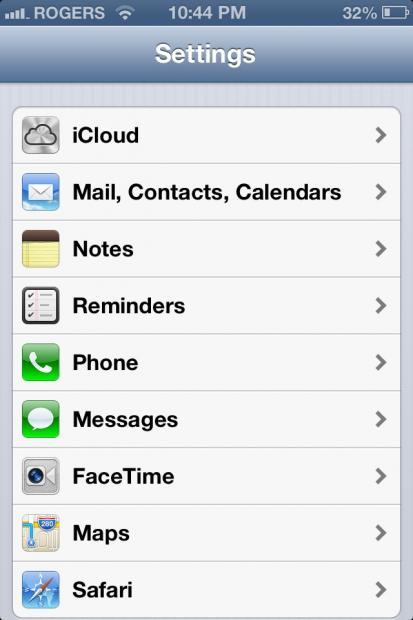 iPhone outlook settings