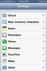 iPhone outlook settings