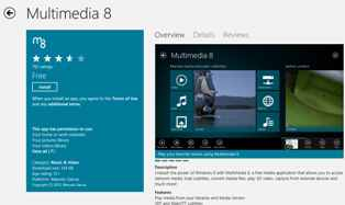 multimedia 8 windows 8 app for surface