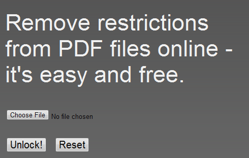 unlock pdf file or ebook online