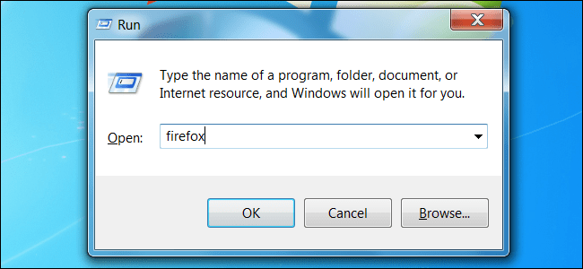 The Run Dialog Box