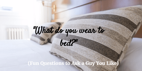 flirty questions to ask guys you like Do you ever wonder what types of questions to ask the guy you like wonder no more because here are 100 flirty questions to ask your guy.
