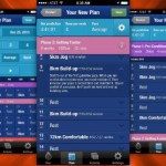 Customized exercise routine form My Asics app