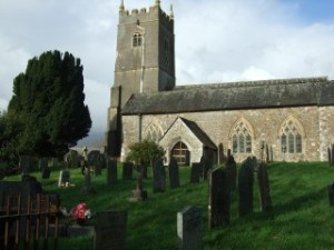 Here's a view of the graveyard in that little North Devon town.