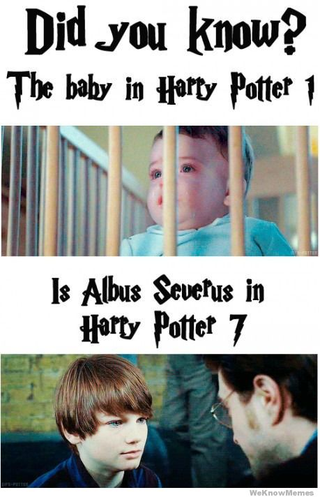 No, the baby in PS Movie is NOT Albus Severus in DH