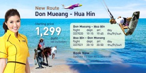 Flights from Hua Hin airport