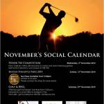 NOVEMBER'S SOCIAL CALENDAR at BAN YAN
