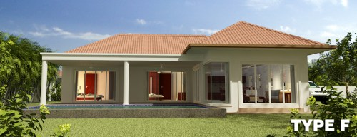 Type F Orchid Palm Homes Villa For sale in Hua Hin