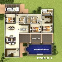 Type C.1 Orchid Palm Homes Villa For sale in Hua Hin