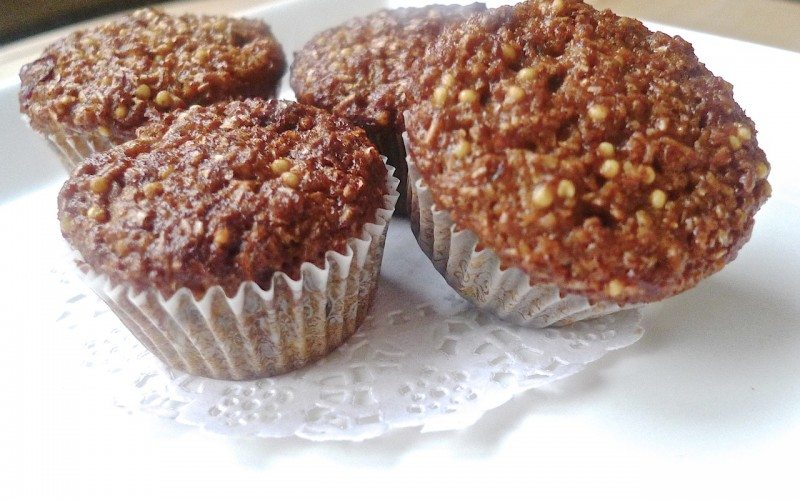 These muffins have a chewy, soft and moist texture with an intriguing ...