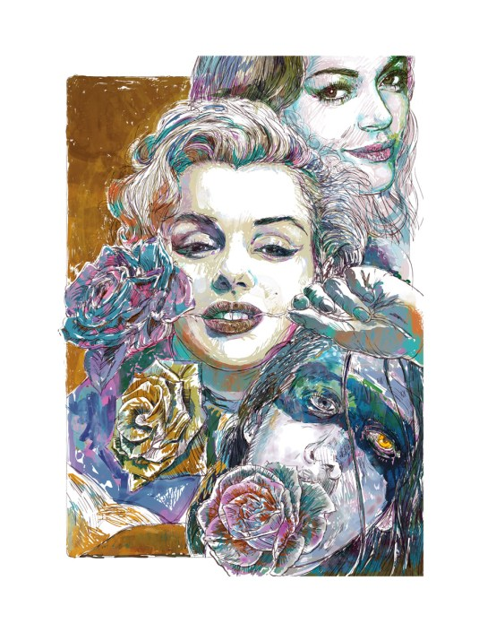 marylin monroe illustration
