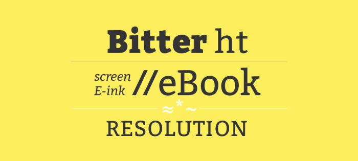 Bitter Font Download