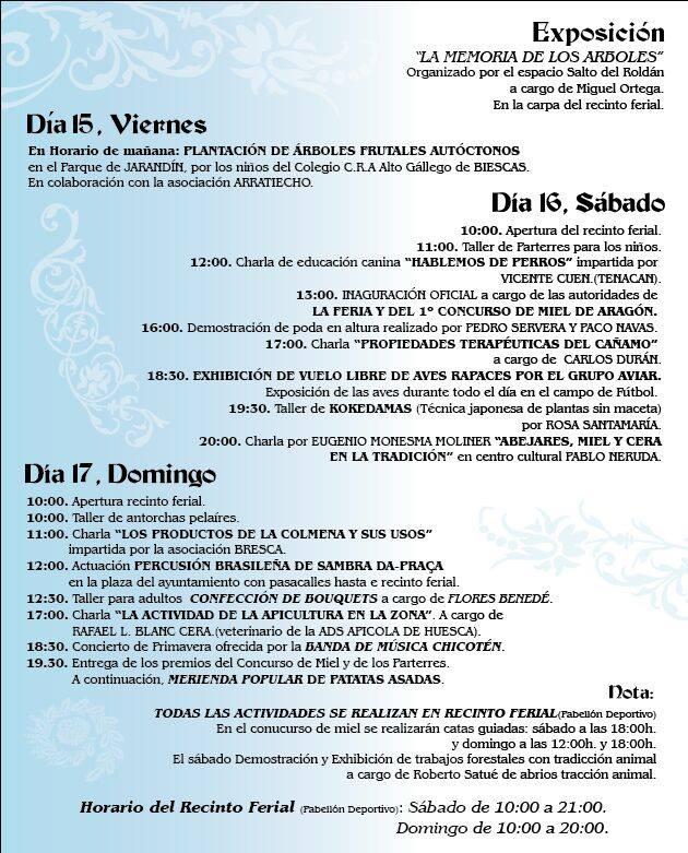 Programa Feria de Primavera 2015