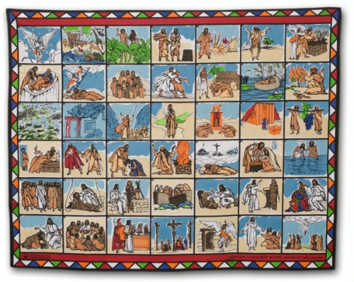 "Bible Stories Scarf <a href=""http://imbresources.org/index.cfm/product/detail/prodID/1619"">from IMB</a>.  <br/>(You can order us one if you want.)"