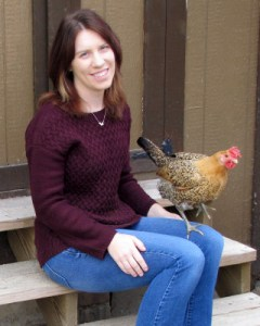 Image of Paige Nugent with chicken