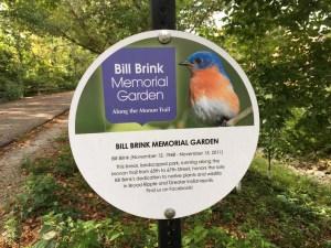 Image of Bill Brink Memorial Garden sign