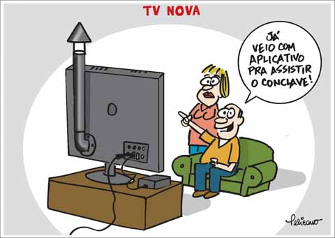 TV fumacinha do conclave