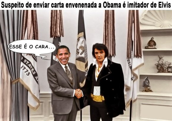 Elvis e Obama se encontram