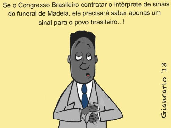 Falso interprete interpretando o Brasil