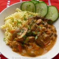 Paprika Mushroom Stew - Gomba Paprikas
