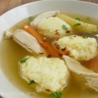 Semolina dumplings for chicken broth - Grízgaluska