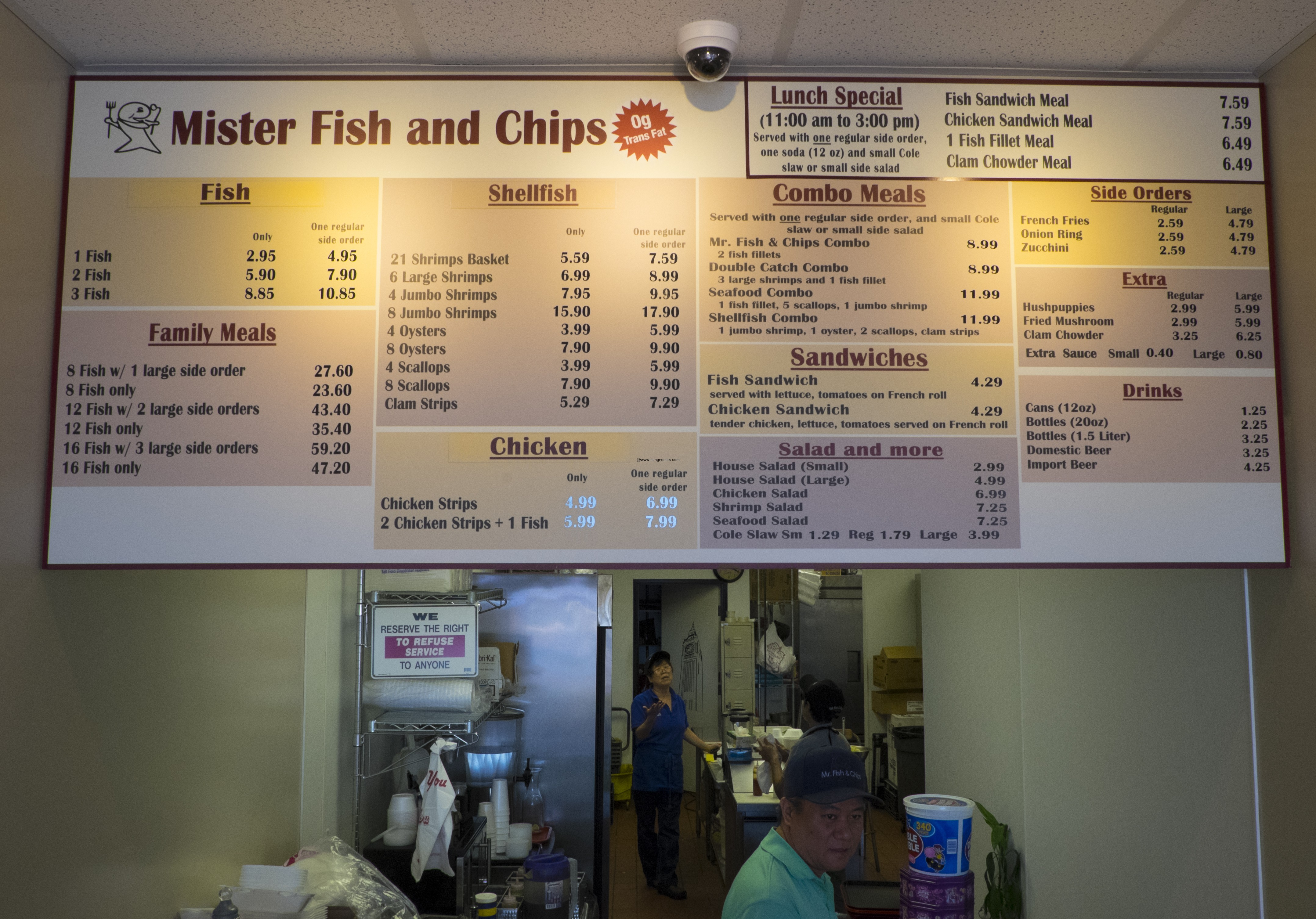 Mr fish and chips for Mr fish menu