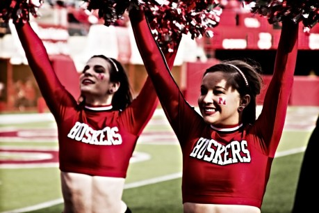 Husker Cheerleader Girls