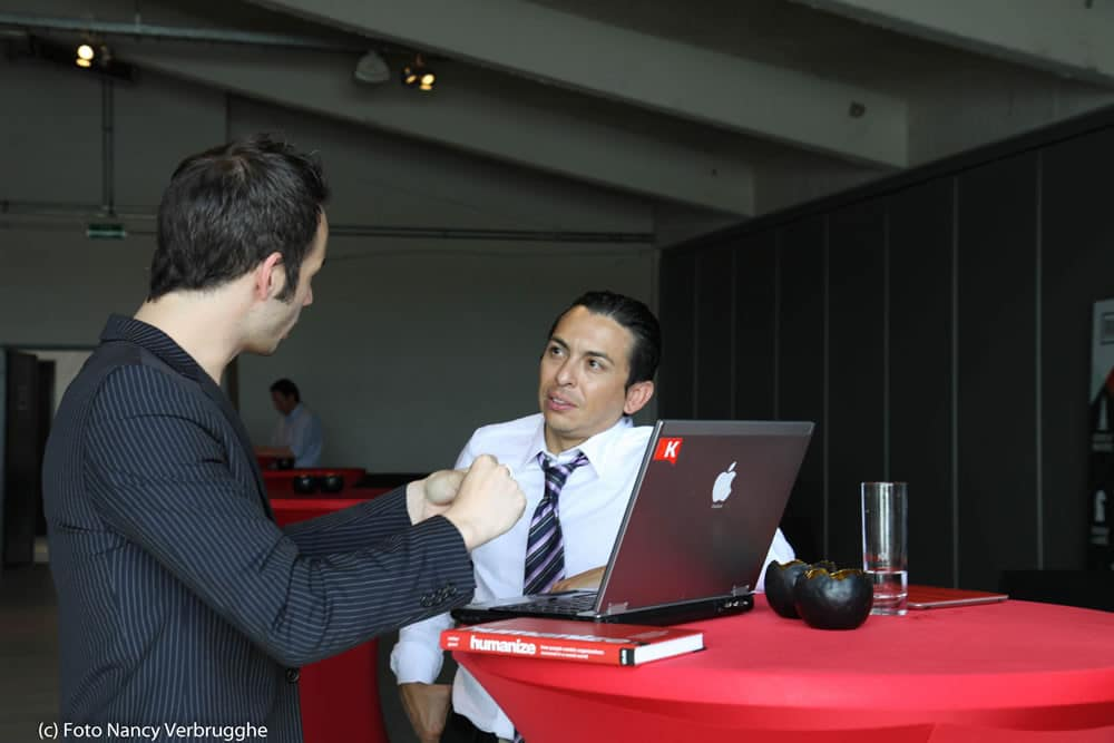 Brian Solis and Thomas Marzano at the Social Business Sessions by i-SCOOP – picture Nancy Verbrugghe