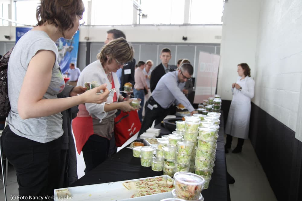 Salad lunch at the Brian Solis Social Business Sessions by i-SCOOP – picture Nancy Verbrugghe