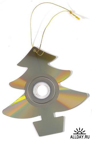 Новый год. Новогодние игрушки из дисков