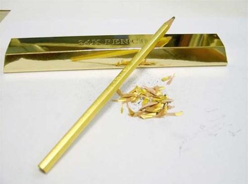 Карандаш из золота за миллион