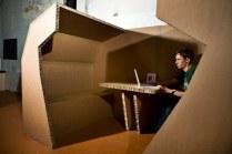 Картонный офис от Paul Coudamy
