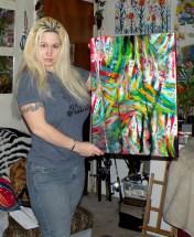 Картины, которые нарисованы женской грудью