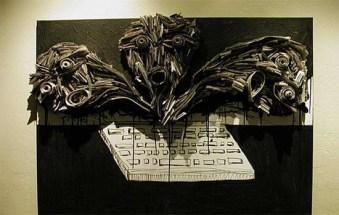 Скульптуры из газет