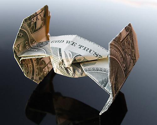 Галерея оригами из долларов от Крейга Соненфельда