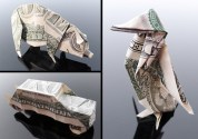 Галерея оригами из долларов (7)