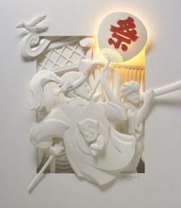 Поделки своими руками из бумаги: скульптуры Джефа Нишинаки (6)