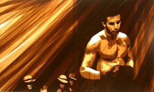 Современное искусство: картины, нарисованные скотчем от Макса Зорна (7)