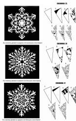 Схемы для вырезания новогодних снежинок из бумаги для украшения офиса (7)