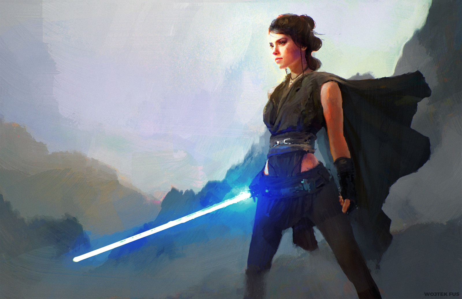 Some great Rey artwork - her defiant expression!