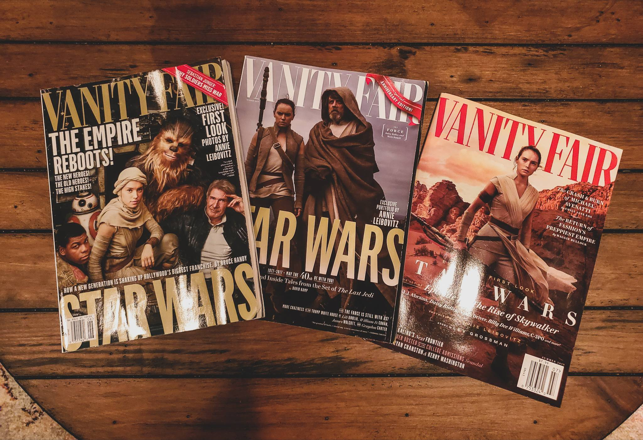 Finally picked up the latest Vanity Fair issue to round out the trilogy