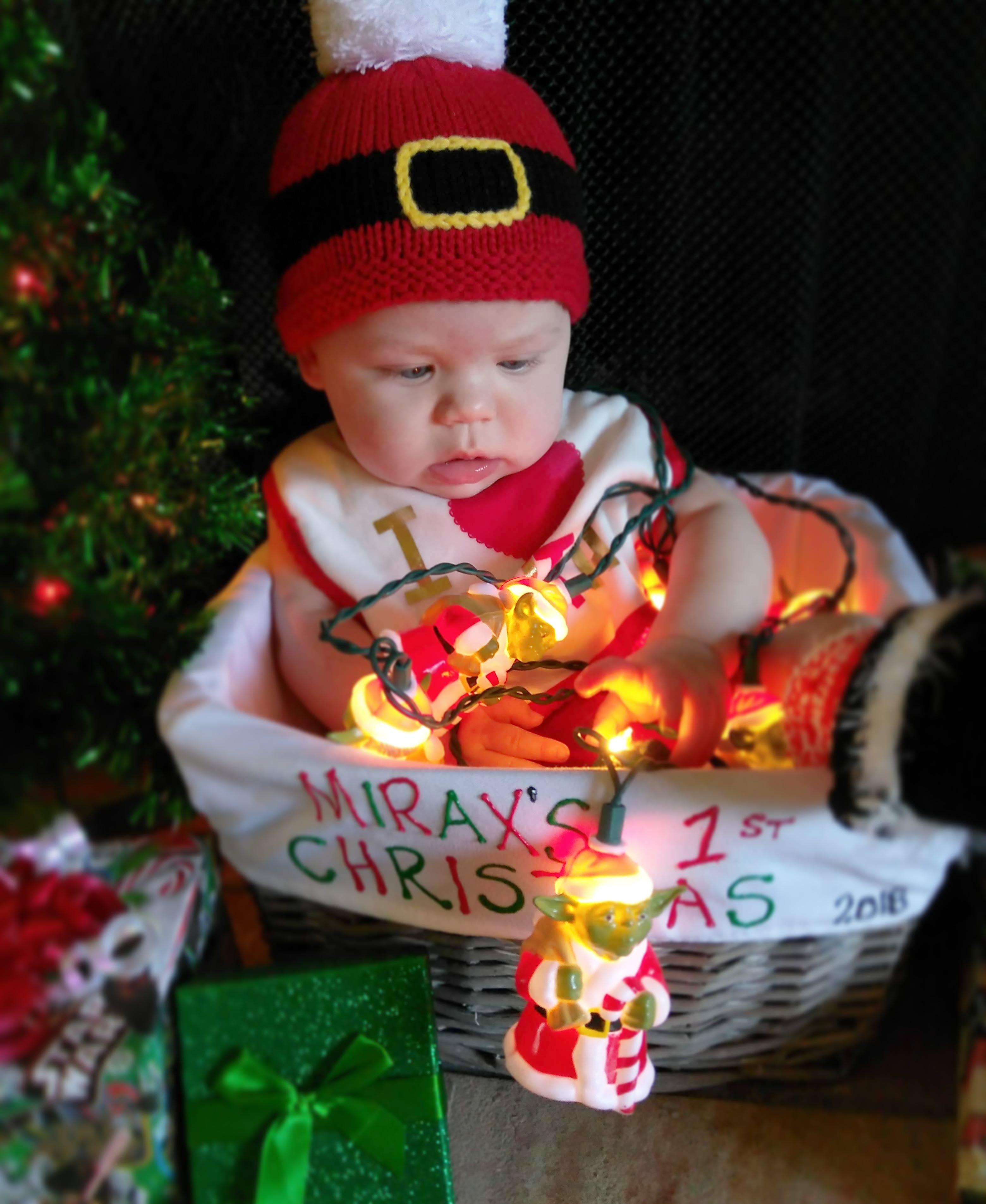 I hope she grows up thinking Yoda is santa