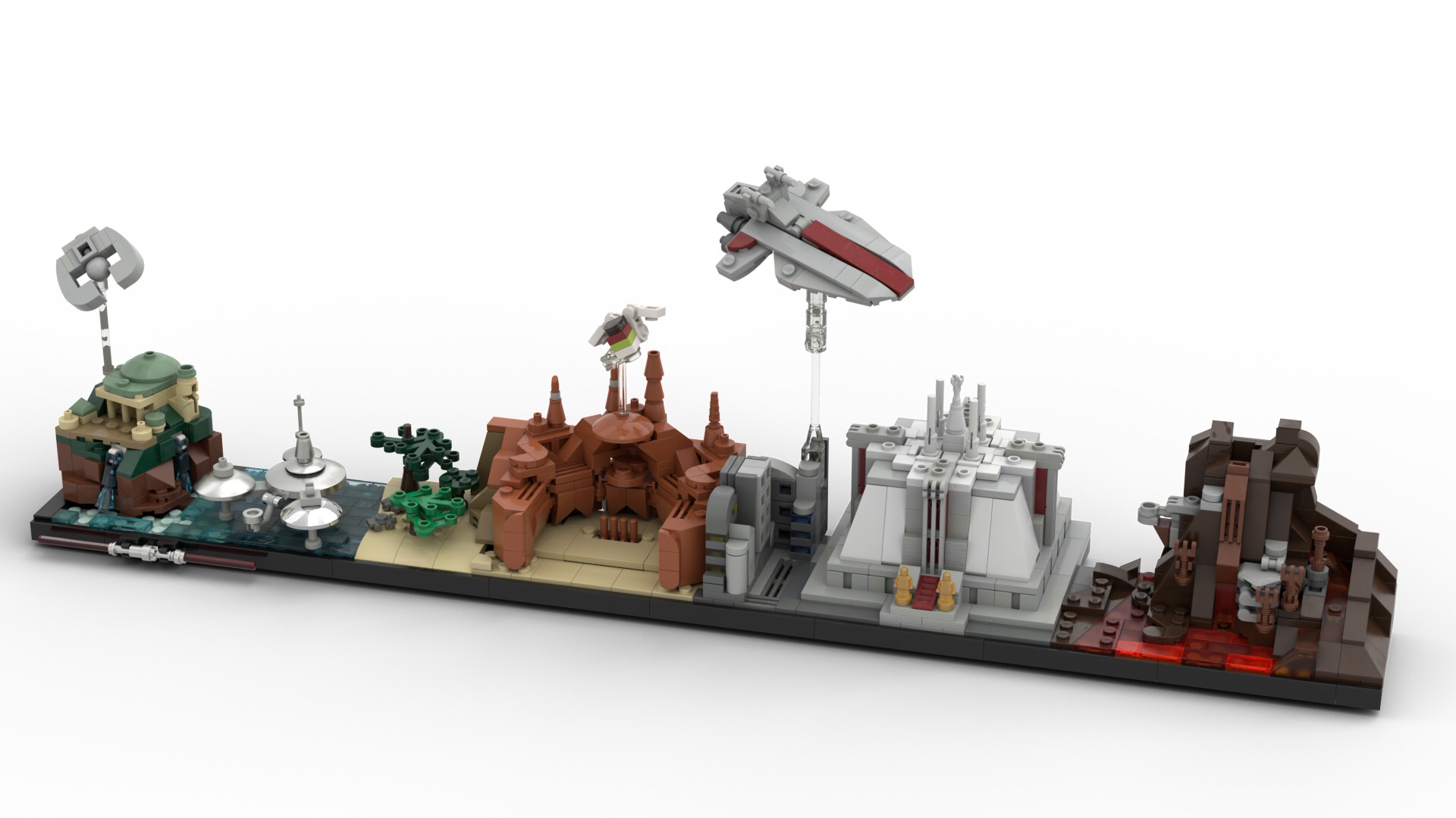 Lego architecture inspired prequel skyline